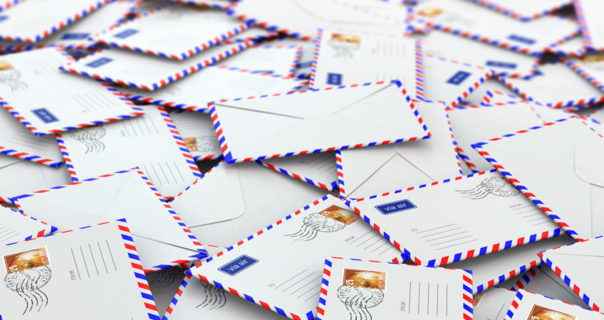 Background from mailing letters.