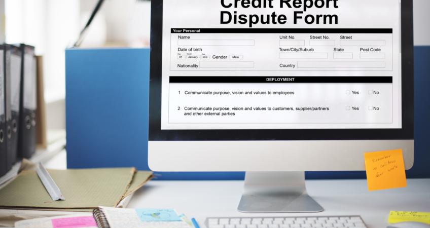 Credit Report Dispute Form Insurance